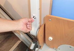 2.階段昇降機の動作音の部分を確認する